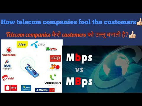 """How cellular/telecom operator companies fooling the customer by difference of """"Mbps & MBps"""""""