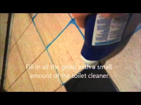 The Amazing Way To Clean Grout YouTube - Cleaning tile grout with toilet cleaner