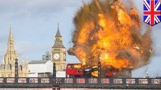 Жители Лондона напуганы взрывом автобуса для фильма Джеки Чана