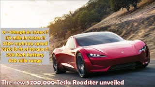 New Tesla Roadster 2 unveiled - fastest production car ever!