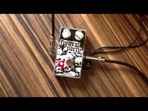 FUNERAL PARTY distortion/fuzz pedal - Nine of Swords Effects - Handcrafted in the UK