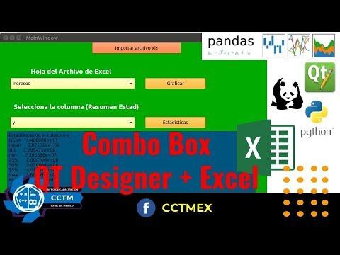 Utilizar hojas de Excel en ComboBox |QT Designer| Python | PyQT5 | Pandas|¡Muy básico!