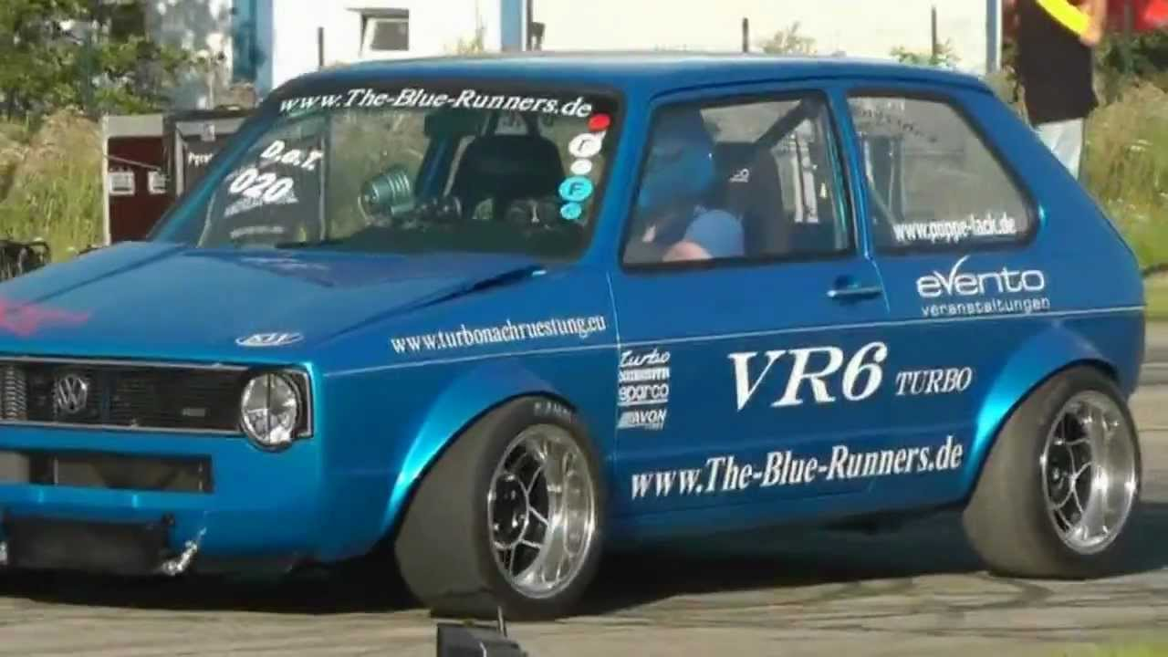 vw golf 1 vr6 turbo the blue runners youtube. Black Bedroom Furniture Sets. Home Design Ideas