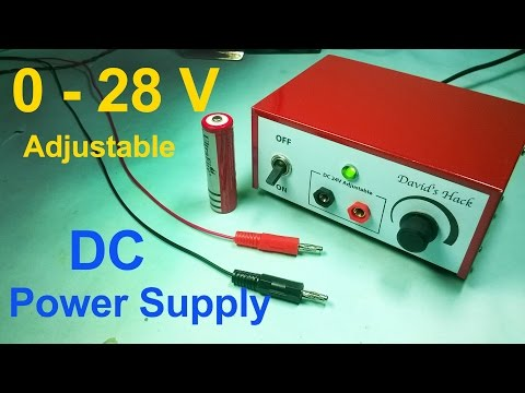 Make Adjustable DC Power Supply in Easiest Way