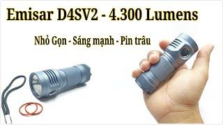 Đèn pin Emisar D4SV2 (Nhỏ gọn - Hiệu Năng Cao)