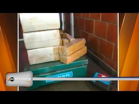 Polícia Rodoviária apreende mais de 100 quilos de maconha que estavam em furgão na região