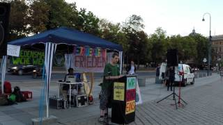 15. Friedensmahnwache in Wien: Sebastian über eine Studie vom BM f. Gesundheit bez. Essen (4.8.2014)