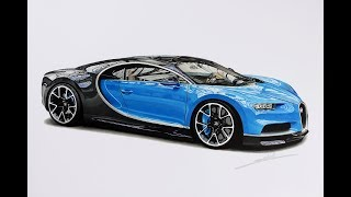 Bugatti Chiron Drawing