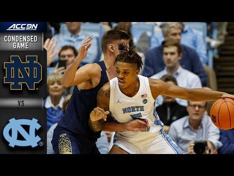 Notre Dame vs. North Carolina Condensed Game   ACCBasketball 2019-20