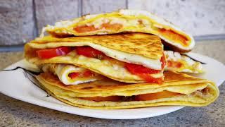 Завтрак за 10 минут? ДА! ДА! ДА! Яйцо и Лаваш! Быстрый завтрак.
