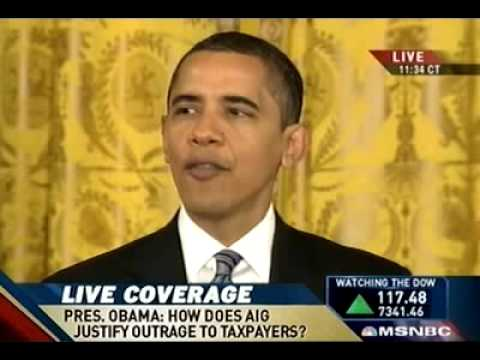 Obama choked up with anger over AIG bonuses