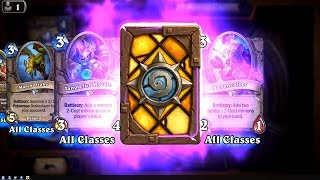 Spectral Cutlass - The Witchwood Hearthstone epic card pack opening