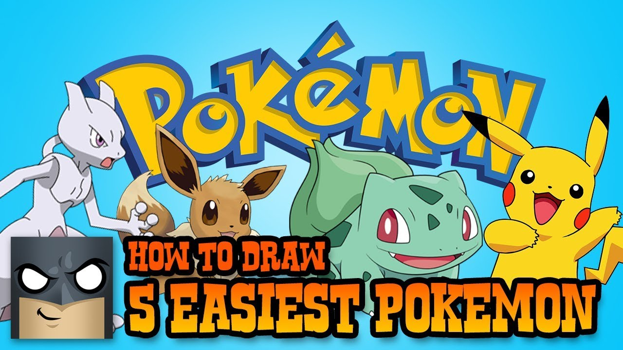 5 Easiest Pokemon Characters To Draw Super Simple Lessons For