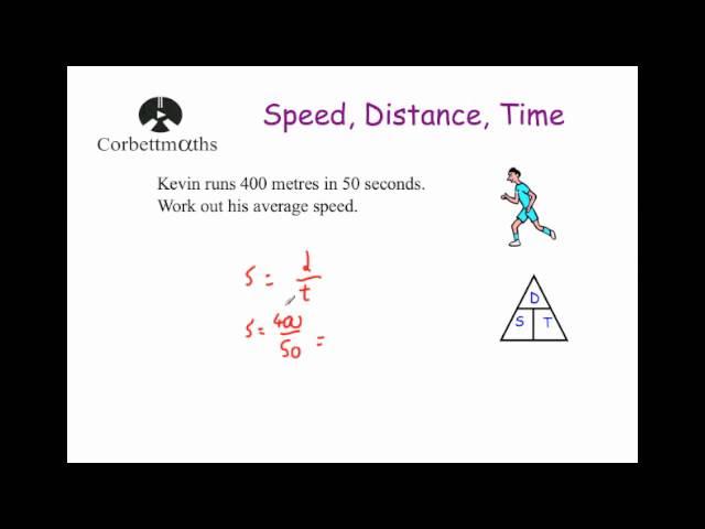 Speed Distance Time Corbettmaths