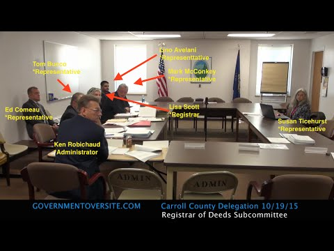 Carroll County NH Delegation SubCommittee 10:19:15