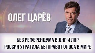Олег Царёв   Без референдума в ДНР и ЛНР Россия утратила бы право голоса в мире
