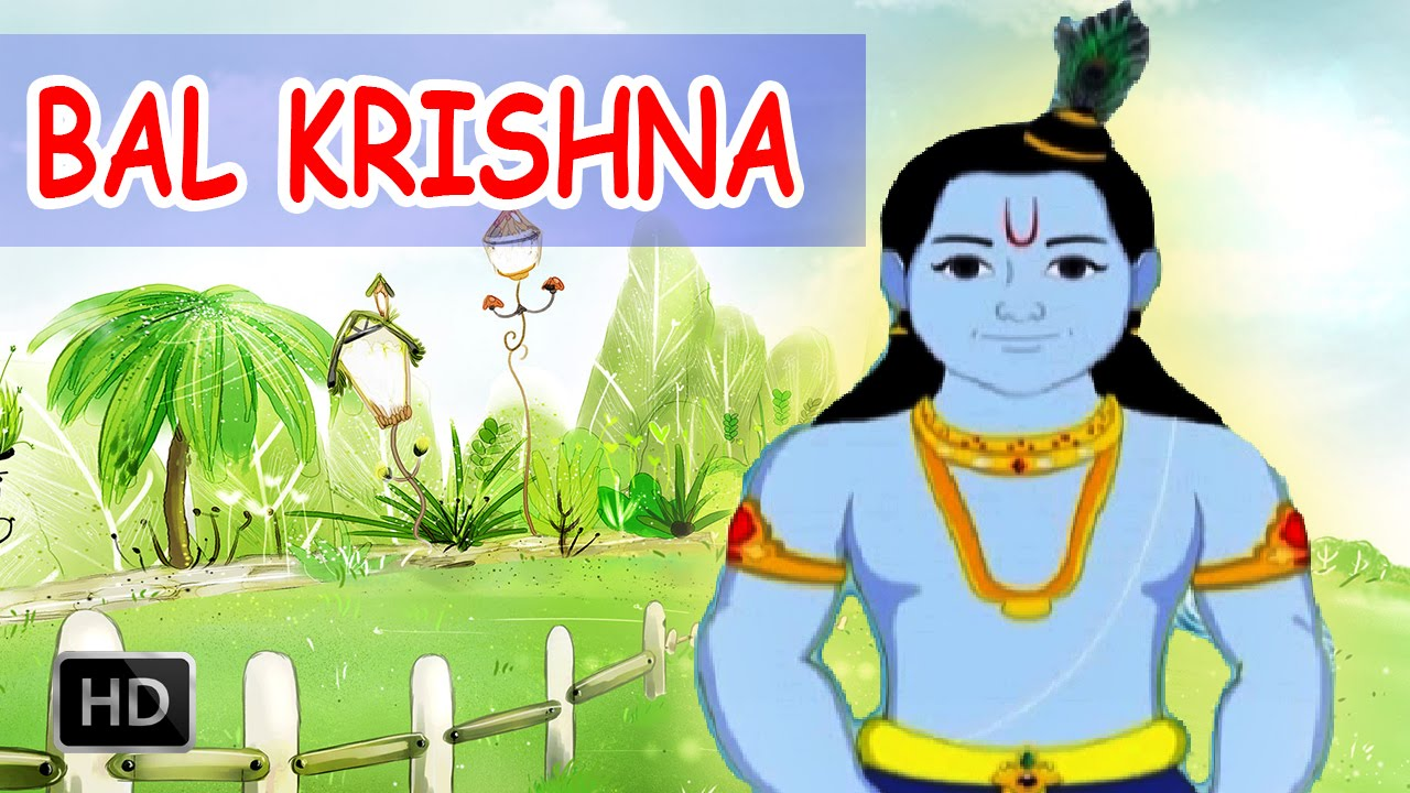 Bal Krishna Childhood Of Lord Krishna Animated Cartoon Stories For Children Youtube