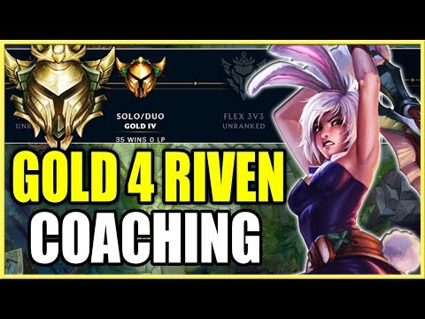 GOLD 4 RIVEN COACHING | ADVANCED TIPS FOR RIVEN! (League of Legends) thumbnail
