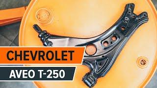 Kaip pakeisti Rėmas, stabilizatoriaus tvirtinimas CHEVROLET AVEO Saloon (T200) - internetinis nemokamas vaizdo