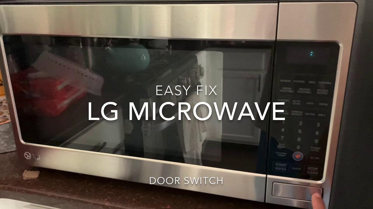 lg microwave door switch easy fix