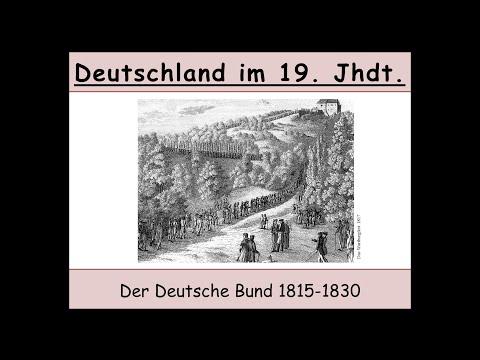 Der Deutsche Bund 1815-1830 (Wartburgfest | Karlsbader Beschlüsse) 1/2