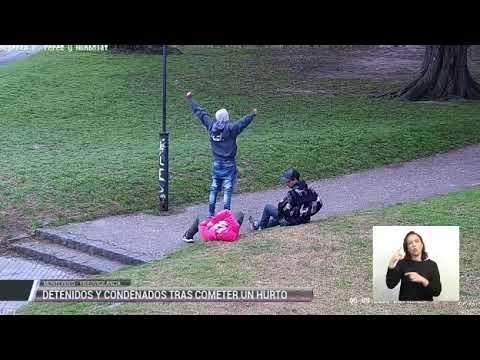 Dos hombres a prisión por robarle el Celular a otro que dormía en una plaza de Montevideo