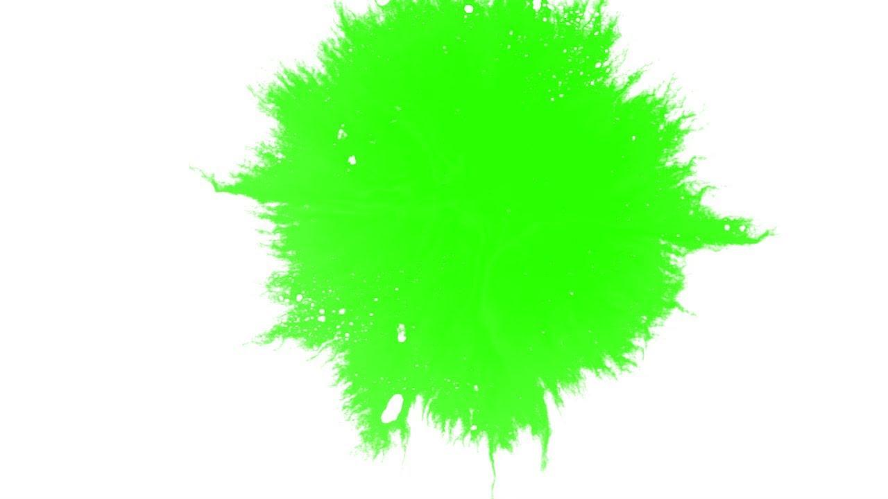 INK SPLATTER GREEN SCREEN PAINT 4K 1080P MOTION VIDEO STOCK F