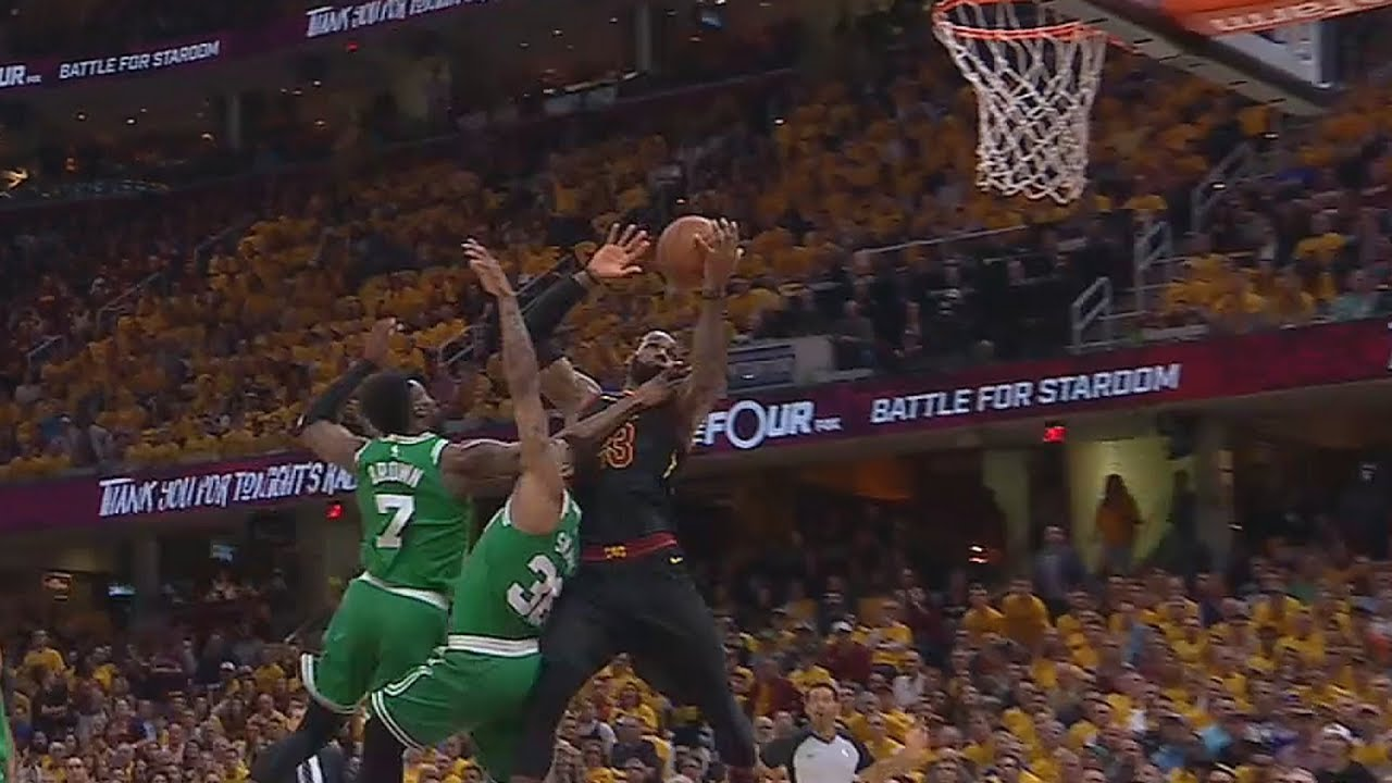LeBron James Catches Touchdown Pass From Kevin Love! Cavaliers vs Celtics  Game 4 c2a55dda2