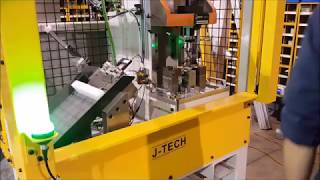 J-Tech operator load stud install machine with part check