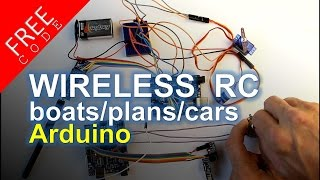 Build a wireless RC unit Arduino - FREE CODE