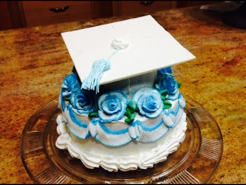 Buttercream Cake Decorating Fast And Easy : Quick Graduation Cap Cake- Cake Decorating- Buttercream ...