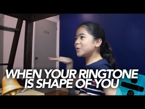 When your ringtone is on fire! | Ranz and Niana
