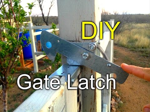 DIY Gate Latch - for my garden fence