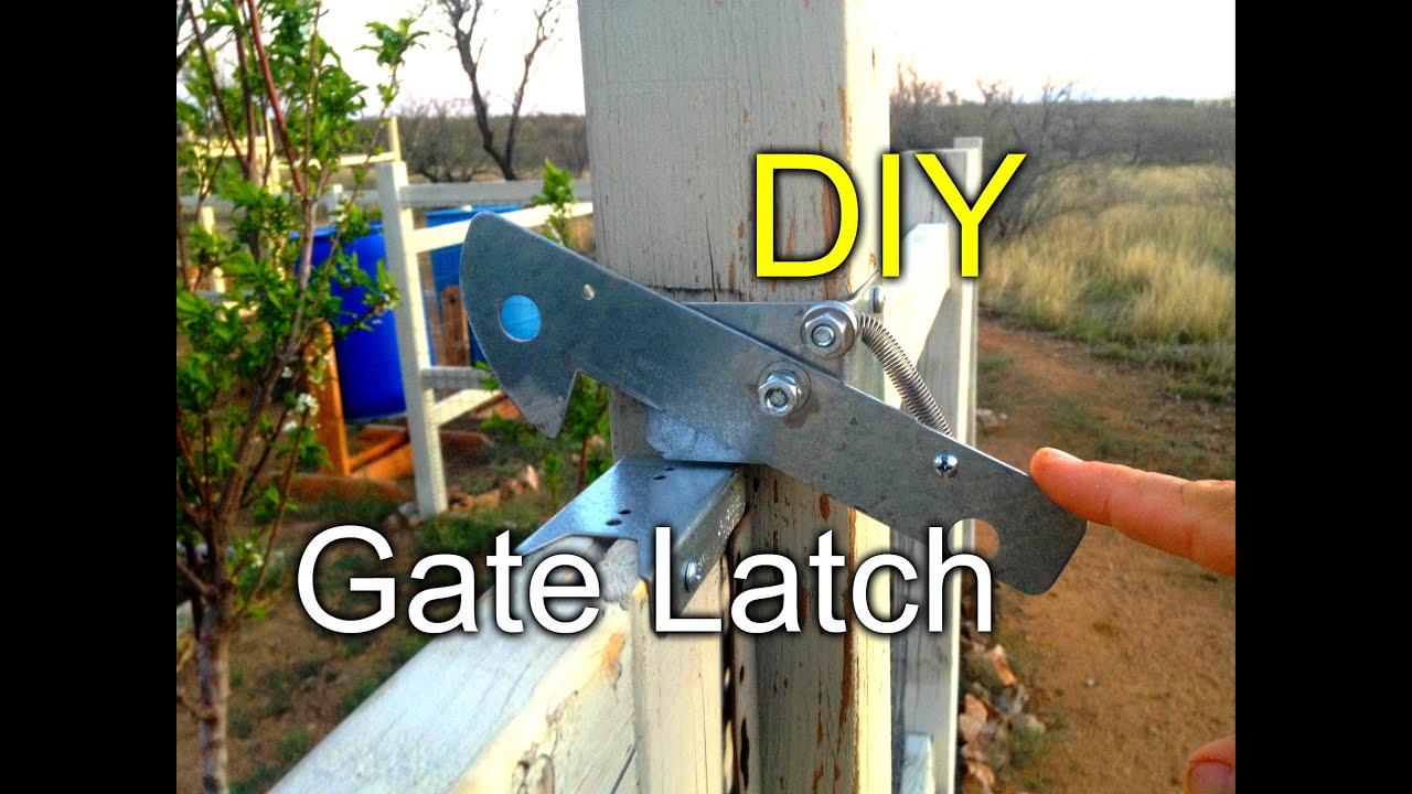 Diy Gate Latch For My Garden Fence Youtube