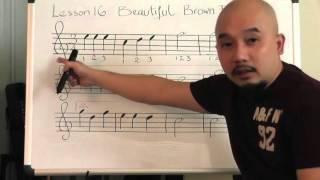 Tự học guitar căn bản bài 16(Beautiful Brown Eyes)