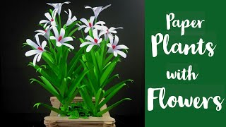 Paper Crafts For School | Paper Craft | Paper Leaves | Paper Flowers | Paper Plants DIY | Paper Leaf