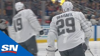 Matthew Tkachuk Sets Up Leon Draisaitl For A Goal In The 2020 All-Star Tournament