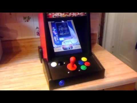 Mini Vertical Bar Top Arcade Cabinet Shmups Youtube