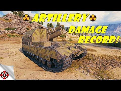 World of Tanks - Artillery DAMAGE RECORD! (WoT artillery gameplay) thumbnail