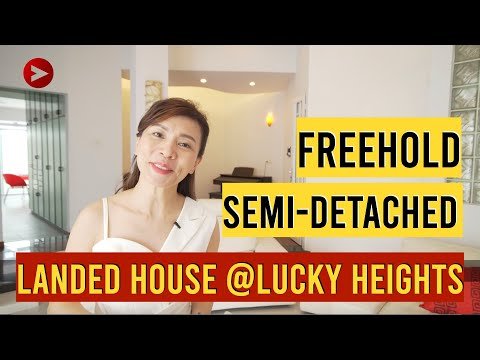 Property Singapore for Sale -3 Storey Semi Dettached House at Lucky Heights (2019)