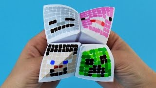 Minecraft Paper Fortune Teller Step by Step Tutorial   Chatterbox DIY
