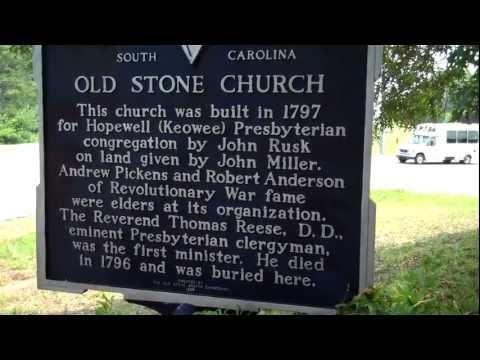 Old Stone Church & Cemetery. Located near Clemson,SC.