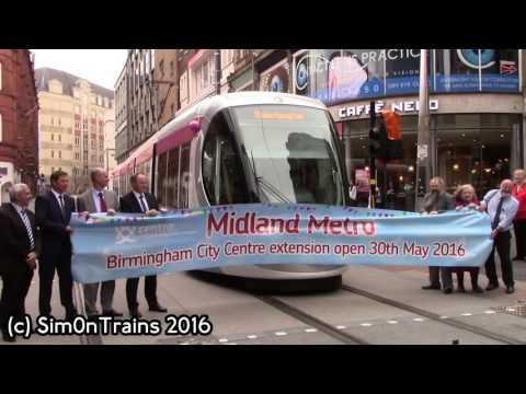 NXMM CAF Urbos 3, No 37 Birmingham City Centre Extension Opening (30th May 2016)