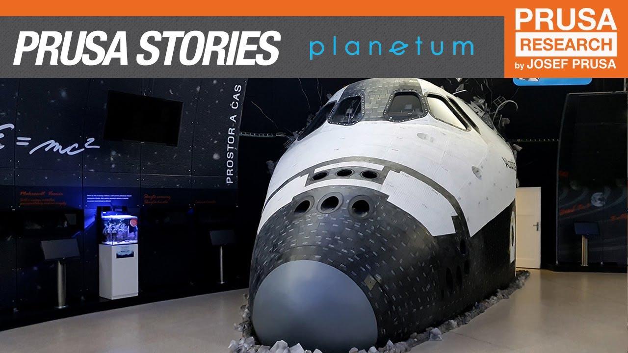 3D printed Apollo Lunar Module and life-size Space Shuttle – Prague Planetarium Prusa Story