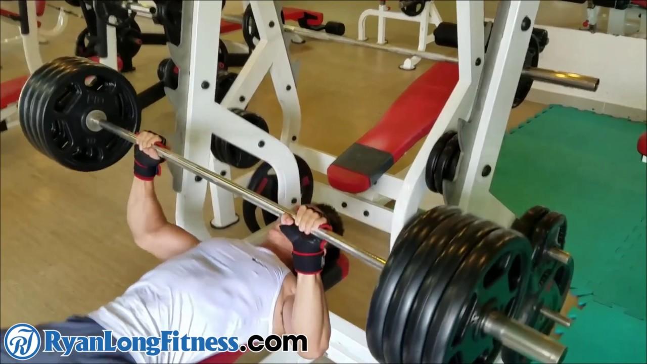 Bài Tập Ngực Chuẩn  Đẩy Tạ Đòn Ghế Ngang   HLV Ryan Long Fitness