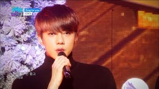【TVPP】EXO – Sing For You, 엑소 – 싱 포 유 @ Comeback stage,  Show! Music Core Live