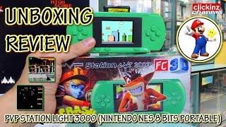 FC NES Portable PVP UNBOXING REVIEW Nintendo Retro Console PVP Station Light 3000 Consola Portatil 8
