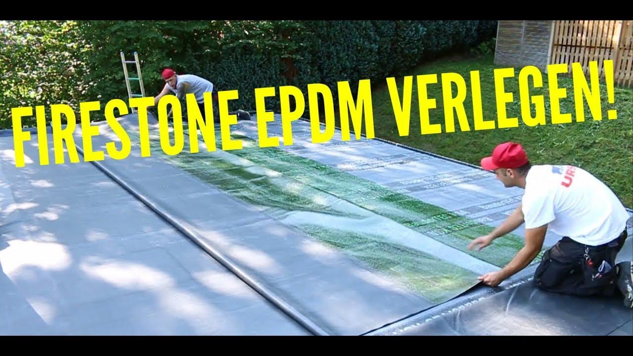 Dachdecker Wie Verlegt Man Firestone EPDM Installation