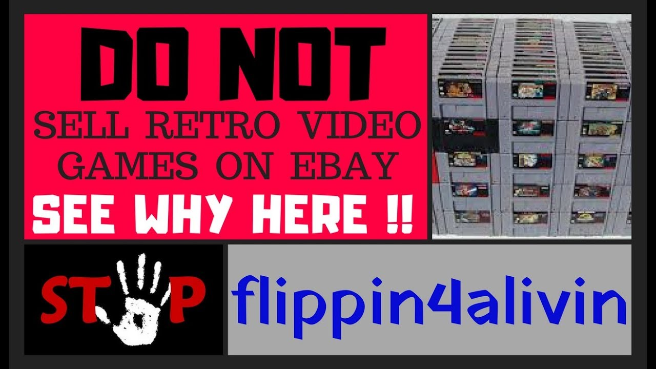 Ebay is robbing you  DO NOT SELL retro video games on Ebay