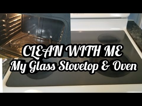 CLEANING MY GLASS STOVETOP & OVEN | CLEAN WITH ME | DIRTY STOVE & OVEN | CAMERIE LOVING LIFE | 2019